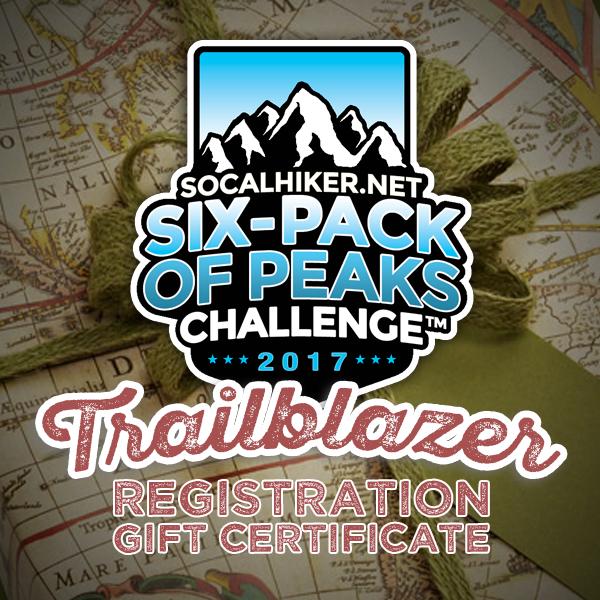 Gift Certificate for a Six-Pack of Peaks Trailblazer Registration