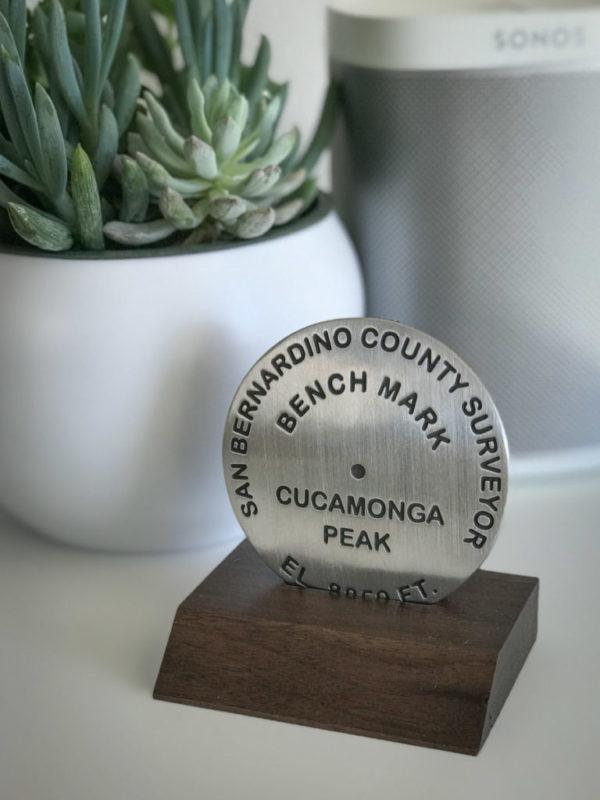 Cucamonga Peak benchmark (base not included)